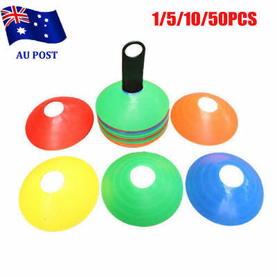 1~50 Sports Training Discs Markers Cones Soccer Afl Exercise Personal Fitness MN