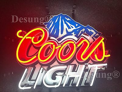 """Coors Light Mountain Beer Neon Sign 19""""x15"""" with HD Vivid Printing Technology"""