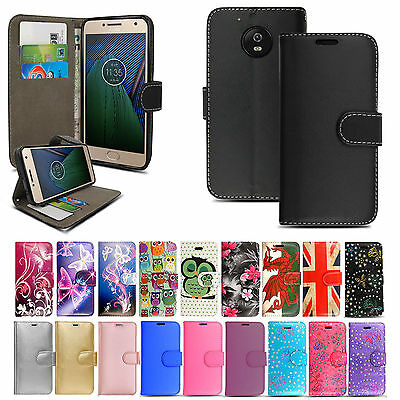 New Genuine Leather Wallet Phone Case Cover For Motorola Moto E5 / Play / Plus