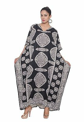 Women's Caftan Dress Kaftan dashiki Hippie Boho Maxi Gown Beach Cover Plus size