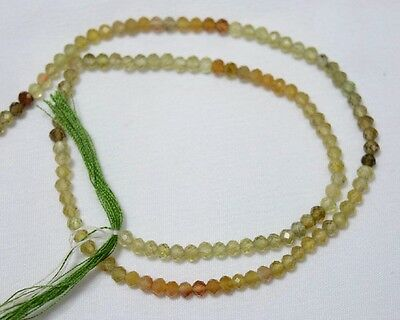 Grossular Garnet Faceted Rondelles Gemstone Beads 3mm 13.5 Inch Strands Approx