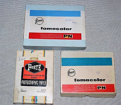 30% Off! Never Opened! Set Of 3 Packages Of Czech & Hungarian Photographic Paper