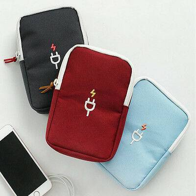 Earphone Data Cable USB Case Organizer Pouch Travel Portable Storage Bags
