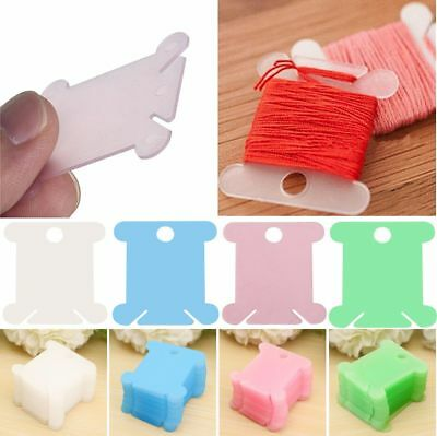 100Pcs Plastic Bobbins Embroidery Floss&Craft Storage Cross Stitch Thread Holder