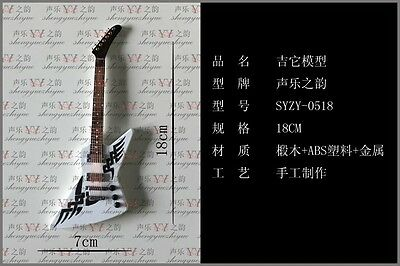 """1/6 Scale Toy White Electric Guitar with Case & Stand for 12"""" Action figure"""