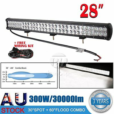 28inch 300W LED Light Bar Philips Spot Flood Combo Offroad Work Driving 4WD