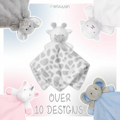 Baby Boys and Girls Teddy Bear Comforter Sleep Aid Snuggle Blanket Soft Cot Toy