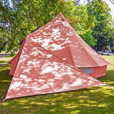 Boutique Camping Bell Tent Triangle Tarp - Red