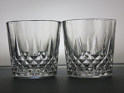 2 Crystal Cut Glass Lead Crystal Spirit Whisky Tumblers Whiskey Glasses