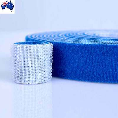 10mm Magic Sticky Self Adhesive Hook and Loop Fastener Tape Blue