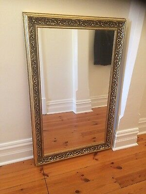 Large gold vintage antique style leaner wall mirror