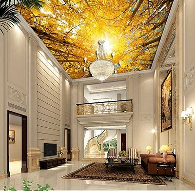 Maple Leaves Autumn Full Wall Ceiling Mural Photo Wallpaper Print Home 3D Decal