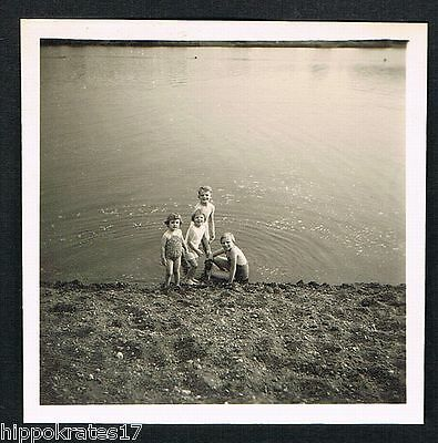 FOTO vintage PHOTO, Personen Strand Bademode people beach personnes plage /85a