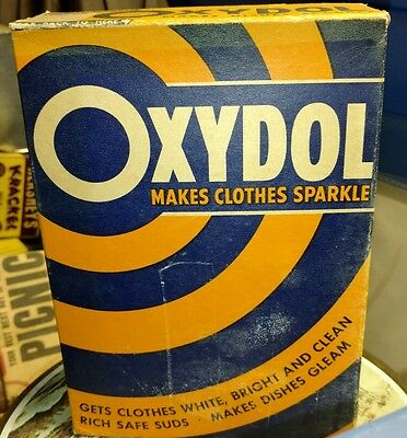 Vintage Oxydol Large Size Laundry Soap Box With Contents