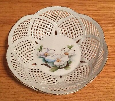 FINE PORCELAIN DISH-Made in ROMANIA1999 HAND PAINTED FLOWERS-SOUTHERN COLLECTION
