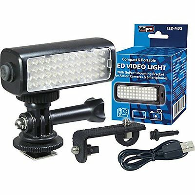 Vidpro LED M52 Video Light 5600K for GoPro, Action Cameras  & Smartphones