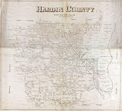 1898 Farm Line Map of Hardin County Texas