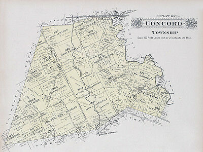 1913 Map of Concord Township Fayette County Ohio