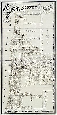1895 Map of Lincoln County Oregon