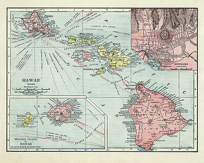 1912 Map of Hawaii