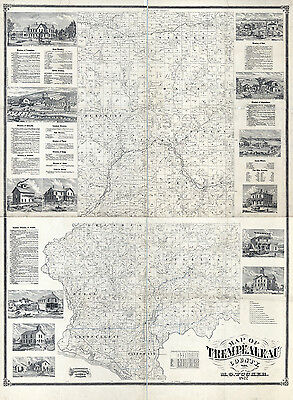 1877 Map of Trempealeau County Wisconsin