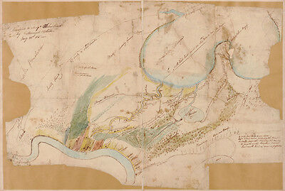 1815 Map of New Orleans Louisiana & Plantations
