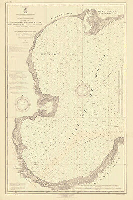 1919 Nautical Map of Lake of The Woods Minnesota