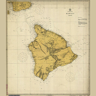 1917 Map of Hawaii