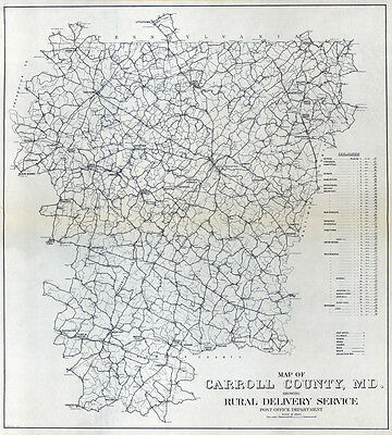 1911 Map of Carroll County Maryland