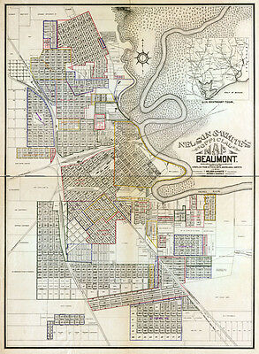 1902 Cadastral Map of Beaumont Texas