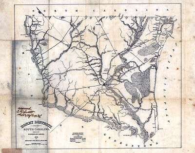 1825 Map of Horry District (County) South Carolina