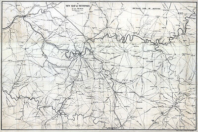 1860 Map of Nashville Tennessee Region Historical Places