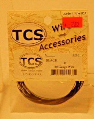 TCS #1216 Black 10 feet of 30 Gauge Wire for DCC NEW