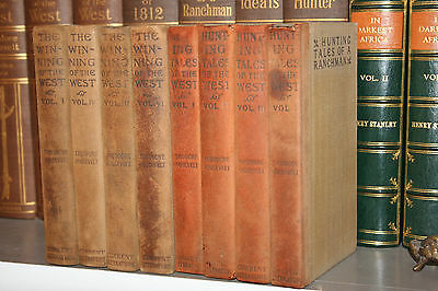 1906 Theodore Roosevelt 8V set WINNING OF THE WEST - TALES OF THE WEST Free Ship