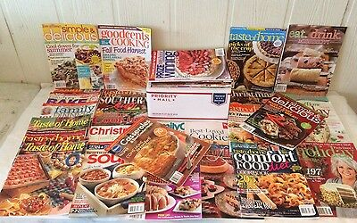 Huge Mixed Lot of 35 Cooking Magazines--Price REDUCED