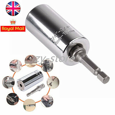 Magical Grip Universal Gator Socket Adapter with Power Drill Adapter Tool 7-19mm