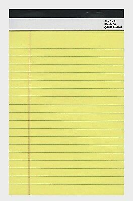 Do List Tablet Magnet 5 x 8  Yellow Notebook Pad 50 Sheets