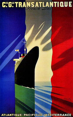 Vintage  Art  MONACO 1933 paper or Canvas Giclee Poster  13X18 to 40X60
