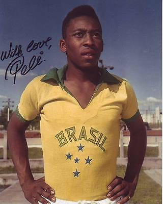 PELE Signed Autographed SOCCER Photo