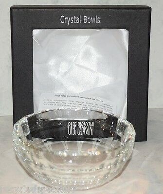 "Oleg Cassini Clear Crystal Preson 4 1/2"" Bowl New In Box Free Shipping"