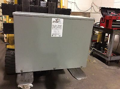 Federal Pacific 6 KVA 3 Ph Dry type Transformer, Cat#TE482D6FS 480 to 240 volts
