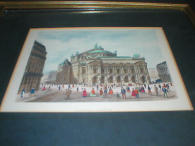 Nouvel Opera Paris - Antique Engraving Framed
