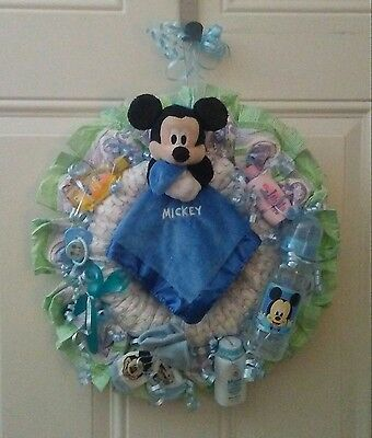 Mickey Mouse Diaper Wreath Diaper Cake Baby Shower Gift