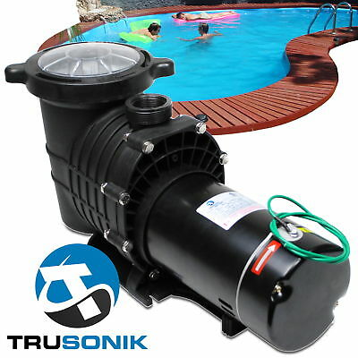 NEW TruSonik 2 HP In-Ground Swimming Pool Pump Motor Strainer Above Inground  %