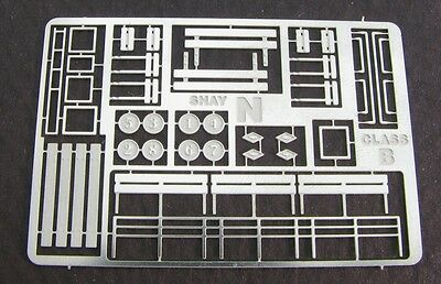 Nn3 Scale Class B Shay Photo Etched Brass Detail Parts by Showcase Min.(5005)