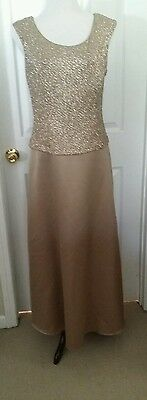 Patra evening gown sparkle size 12 wedding mother of the bride gold