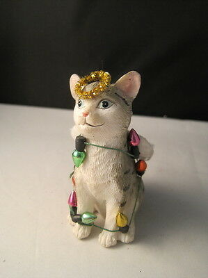 Tabby Cat Angel Christmas Ornament