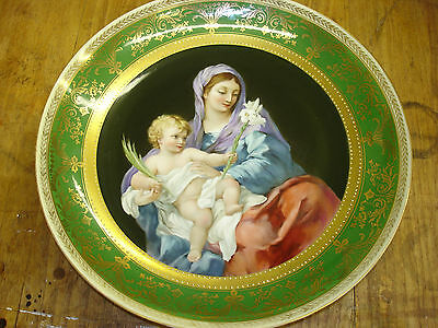 Antique Old Royal Vienna Hand Painted Wall Porcelain Plate Excellent Condition