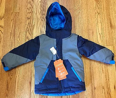 The Children's Place 3-in-1 Coat Jacket Hooded, Toddler Boys Size 3T, Blue NEW
