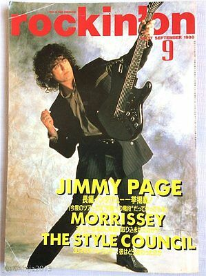 rockin'on Japan Music Magazine 9/1988 Jimmy Page Led Zeppelin Style Council F/S